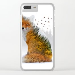 Wild I Shall Stay | Fox Clear iPhone Case