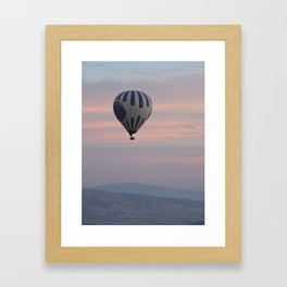 Balloon ride in pastels by Laila Cichos Framed Art Print