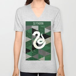 Slytherin House Pattern Unisex V-Neck