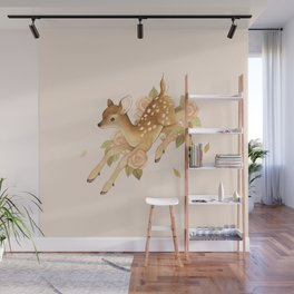 Hopping Fawn Wall Mural