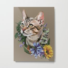 Cat : Catnip Metal Print