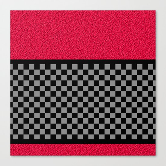 Checkered/Textured Red Canvas Print