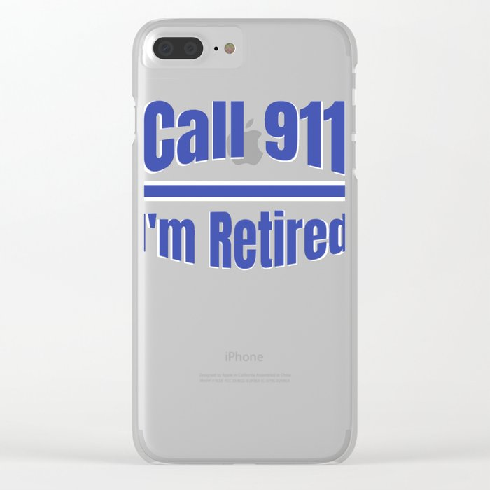 Retired Police Officer Cop Retirement Gift design Clear iPhone Case by  kayelex