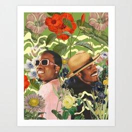 PLANT COLLAGE 1 Art Print
