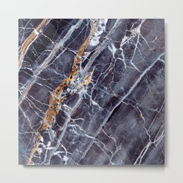 Caribbean Marble Impress Metal Print