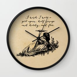 Wuthering Heights - Emily Bronte Wall Clock