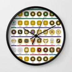 NBA Championship Rings Wall Clock