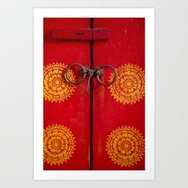 Temple Door Art Print