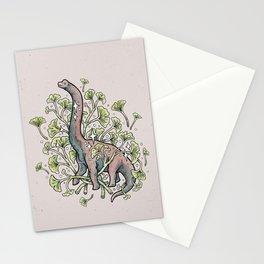 Brachio Ginkgo | Dinosaur Botanical Art Stationery Cards