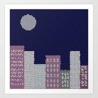 buildings Art Prints featuring Buildings by Marie Libot