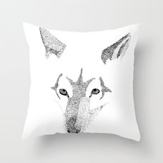 Red Wolf - Can You See How Much Is Left? Throw Pillow