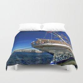 Norwegian sailship Statsraad Lehmkuhl Duvet Cover