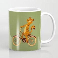 Tiger on the bike Mug
