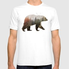 Bear Mens Fitted Tee White MEDIUM