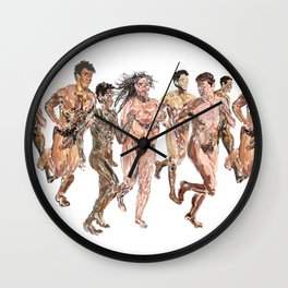 Naked Runners Wall Clock