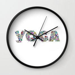 YOGA Figure Poses Wall Clock