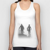 bond Tank Tops featuring Surfers bond by Miguel Santos