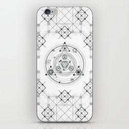 Sacred geometry and geometric alchemy design iPhone Skin