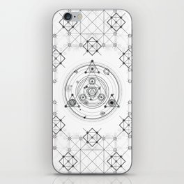 Sacred geometry and geometric alchemy design iPhone Skin
