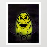 skeletor Art Prints featuring Skeletor by Barry Neeson