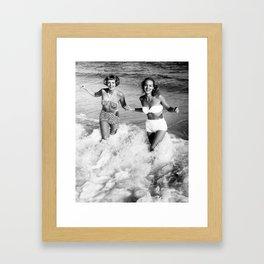 Bikinis and Babes Framed Art Print
