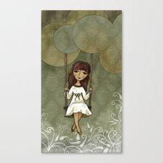Hannah on a Swing Canvas Print