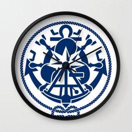 Nautical Symbols Overkill Wall Clock