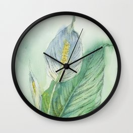 Peace Lily Wall Clock