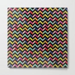 Chevron Multi Color Zigzag Pattern II Metal Print