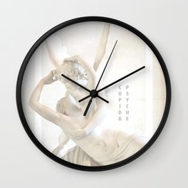 Psyche Revived by Cupid's Kiss Wall Clock