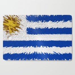 Extruded flag of Uruguay Cutting Board