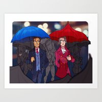 ace attorney Art Prints featuring ace attorney by cclaire