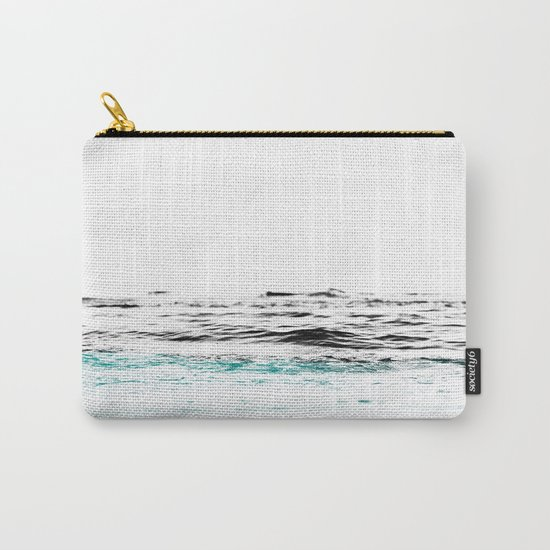 Minimalist ocean waves Carry-All Pouch