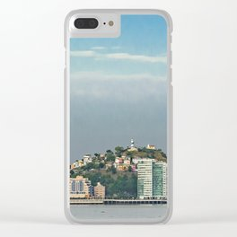 Guayaquil Panoramic Cityscape Skiline, Ecuador Clear iPhone Case