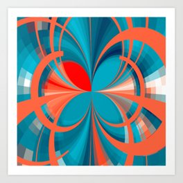 Blown Absract Pattern Art Print