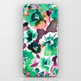 Zoe Floral Sea Green iPhone Skin