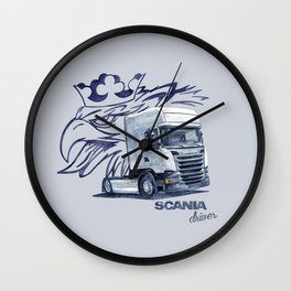 Scania Trucker Driver Wall Clock