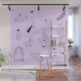 Purple Flash Sheet Wall Mural