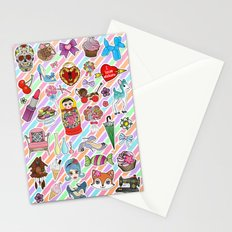 I Love Stickers Stationery Cards