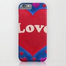 Colorful Heart Shape Illustration Love Concept Design  iPhone Case