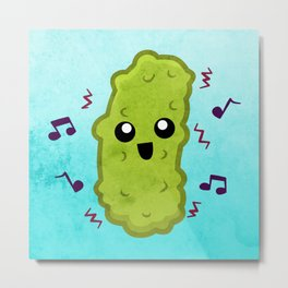 The Dancing Pickle Metal Print
