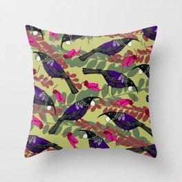 tui mustard Throw Pillow