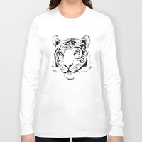 mike wrobel Long Sleeve T-shirts featuring Mike Tyger by chance horseribs higgins