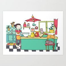 dream kitchen Art Print