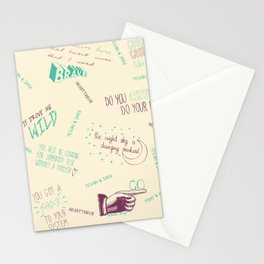 Doodlethrob (Tegan and Sara) creme Stationery Cards