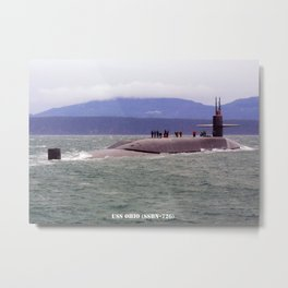 USS OHIO (SSBN-726) Metal Print