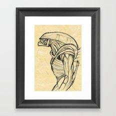 ALIEN3 SKETCH Framed Art Print