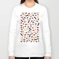 vegetable Long Sleeve T-shirts featuring Vegetable by Ceren Aksu Dikenci