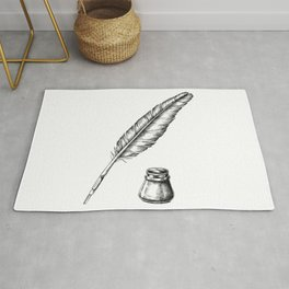 Quill Pen with an Inkwell Rug