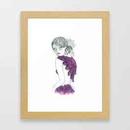 Like a Bird Without Wings Framed Art Print